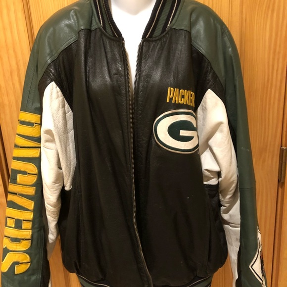 e833fde2 Green Bay Packers Leather Vintage Jacket